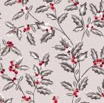 QUILTING TREASURES - Pretty Poinsettias - Holly Vine - Grey - FB8142-