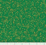 QUILTING TREASURES - Pretty Poinsettias - Scroll - Spruce - FB8099-