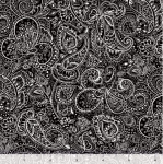 QUILTING TREASURES - Blanc Et Noir - Paisley - Black
