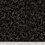 QUILTING TREASURES - Blanc Et Noir - Squiggle - Black