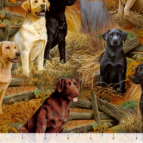 QUILTING TREASURES - Loyal Loveable Labs - Labrador Scenic