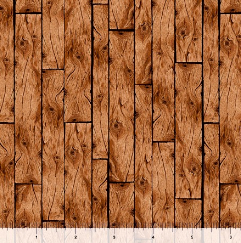 QUILTING TREASURES - Loyal Loveable Labs - Wood Planks - Brown