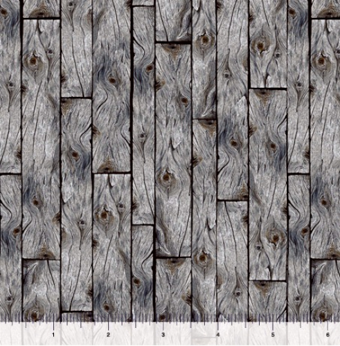 QUILTING TREASURES - Loyal Loveable Labs - Wood Planks - Gray