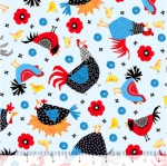QUILTING TREASURES - Count Your Chickens - Chicken Toss - Blue