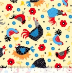 QUILTING TREASURES - Count Your Chickens - Chicken Toss - Sunshine