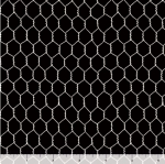 QUILTING TREASURES - Count Your Chickens - Chicken Wire - Black