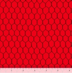 QUILTING TREASURES - Count Your Chickens - Chicken Wire - Red