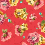 QUILTING TREASURES - Vivian - Small Floral - Red - FB8422-
