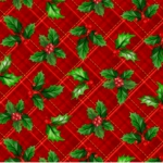 QUILTING TREASURES - Christmas Cardinals - by Liza Bea - Holly Plaid - Red