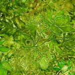QUILTING TREASURES - Floralessence by Dan Morris - Lime Green