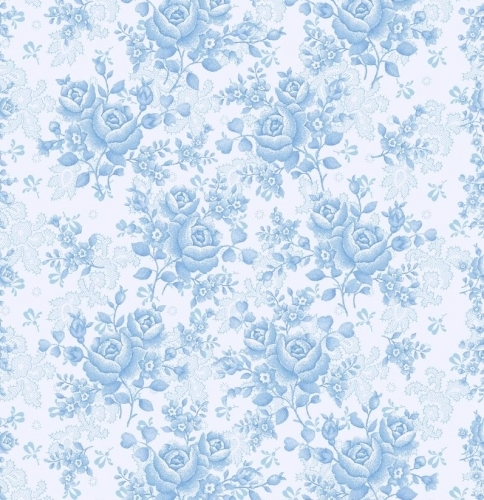 BENARTEX - Homestead Carriage - Climbing Rose - Sky Blue 108