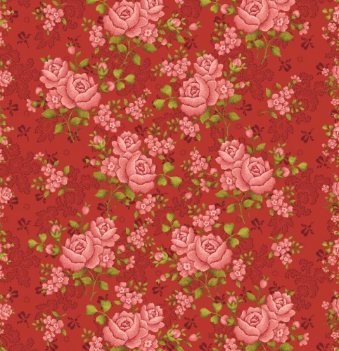 BENARTEX - Homestead Carriage - Climbing Rose - Red 108