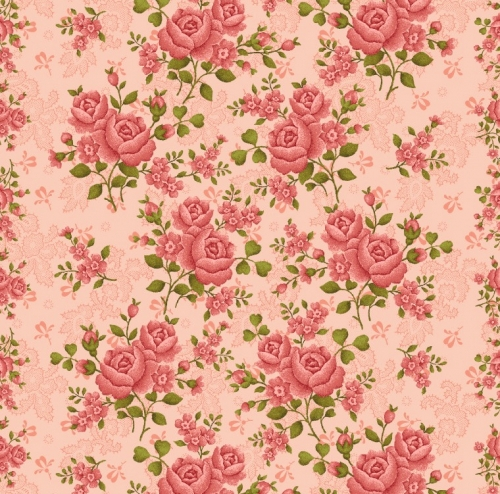 SK66- BENARTEX - Homestead-Colonial - Climbing Rose - Rose 108 - Skinny - 1 3/4 yards