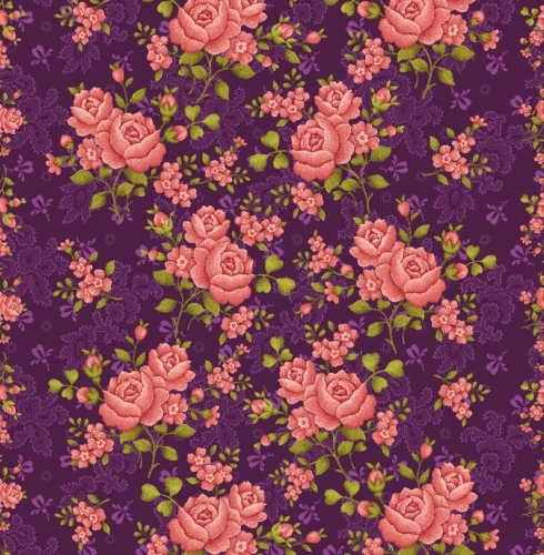 BENARTEX - Homestead Carriage - Climbing Rose - Purple  108