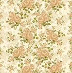 BENARTEX - Homestead Carriage - Climbing Rose - Ivory Sage  108