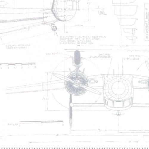 MODA FABRICS - Modern BG More Paper - Blueprints