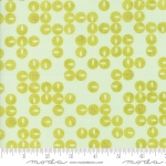 MODA FABRICS - Day In Paris - Circles Aqua/Chartreuse