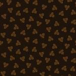 HENRY GLASS - Esthers Heirloom Shirtings - Tossed Black Leaves
