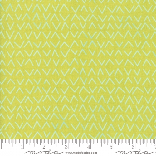 MODA FABRICS - Day In Paris - Chartreuse Chevrons