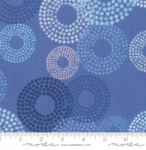 MODA FABRICS - Breeze Dottie Circles - Cornflower