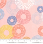 MODA FABRICS - Breeze Dottie Circles - Coral