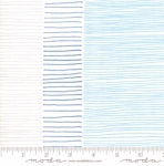 MODA FABRICS - Breeze Fire Lines - White Blue