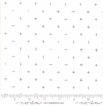 MODA FABRICS - Breeze Pluses - White Cornflower