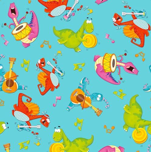 HENRY GLASS - Dino-Mates - Musical Dinos - Aqua