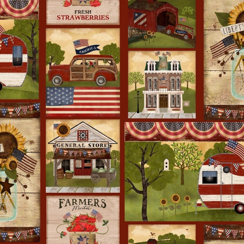 3 WISHES - Patriotic Summer by Beth Albert - Patch - Multi