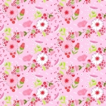 QUILTEX - Sweet Bee - In the Meadow - Pink - #1435-