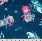 SHANNON - MINKY - Splash Cuddle - Blue - 58-60