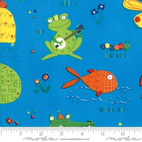 MODA FABRICS - Later Alligator - Animals Blue