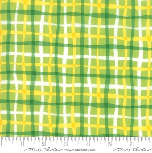 MODA FABRICS - Later Alligator - Plaid Green/Yellow
