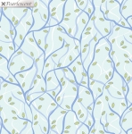 BENARTEX - Nightingale - Branches - Aqua - Pearlized