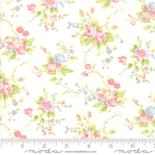 MODA FABRICS - Finnegan - Linen - Large Floral