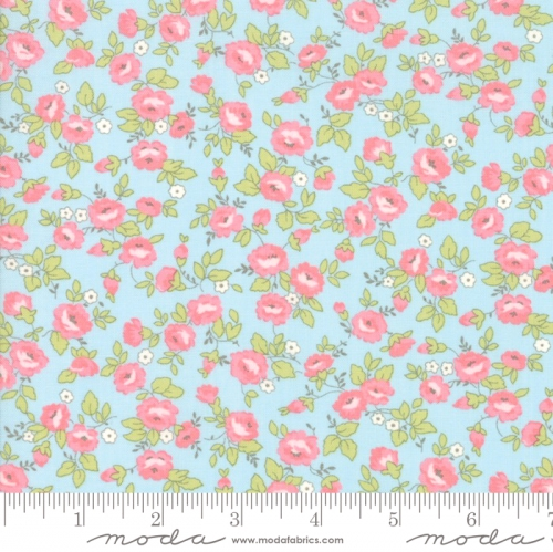 MODA FABRICS - Finnegan - Sky - Small Floral #3047