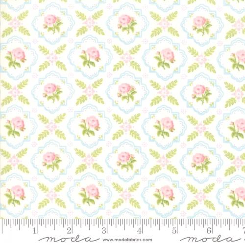 MODA FABRICS - Finnegan - Linen - Floral Tile #3034