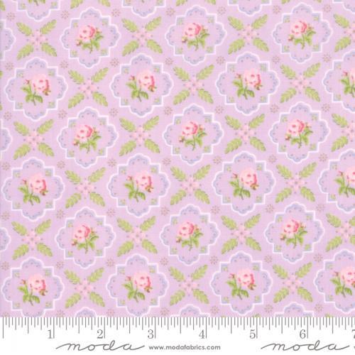 MODA FABRICS - Finnegan - Lilac - Floral Tile
