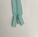 12in Pale Turquoise Zipper