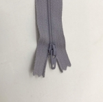 12in Light Gray Zipper