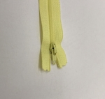 12in Light Yellow Zipper