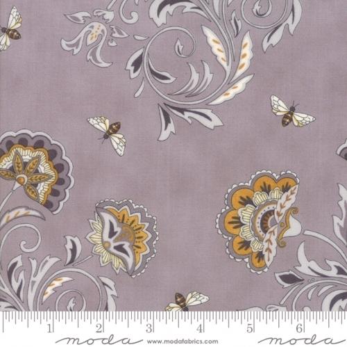 MODA FABRICS - Bee Joyful - Floral Dove Grey