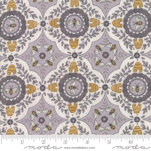 MODA FABRICS - Bee Joyful - A Bee's World Dove Grey