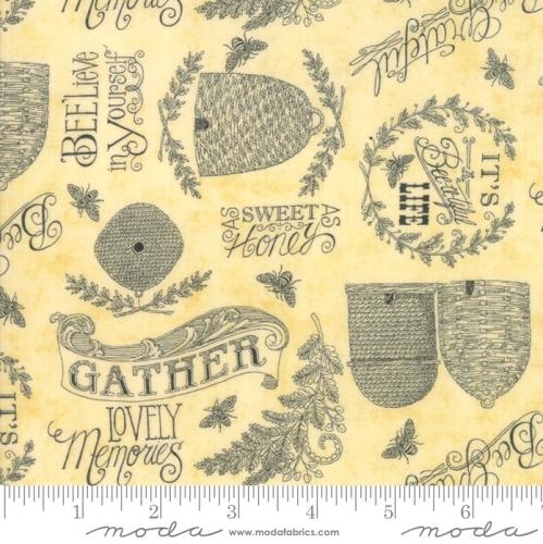 MODA FABRICS - Bee Joyful - Joyful Parchment