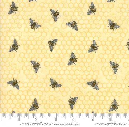 MODA FABRICS - Bee Joyful - Bee Hive Parchment