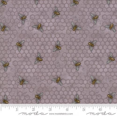 MODA FABRICS - Bee Joyful - Bee Hive Dove Grey