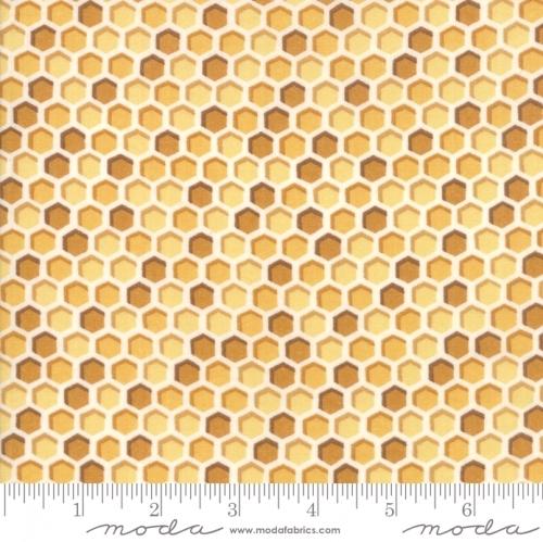 MODA FABRICS - Bee Joyful - Honeycomb Honey