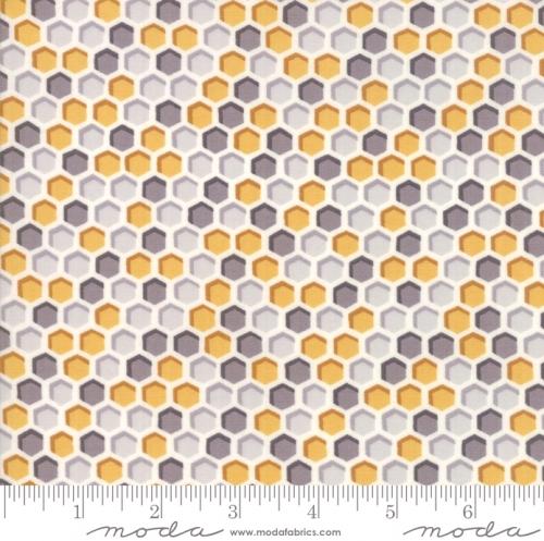 MODA FABRICS - Bee Joyful - Honeycomb Grey Honey