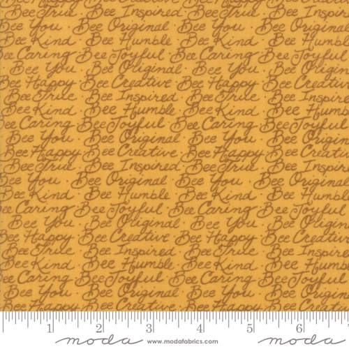 MODA FABRICS - Bee Joyful - Words Honey