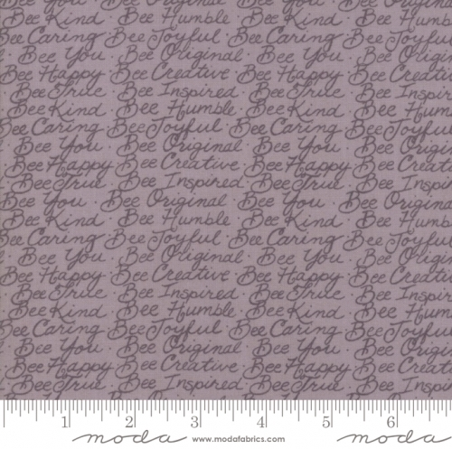 MODA FABRICS - Bee Joyful - Words Dove Grey